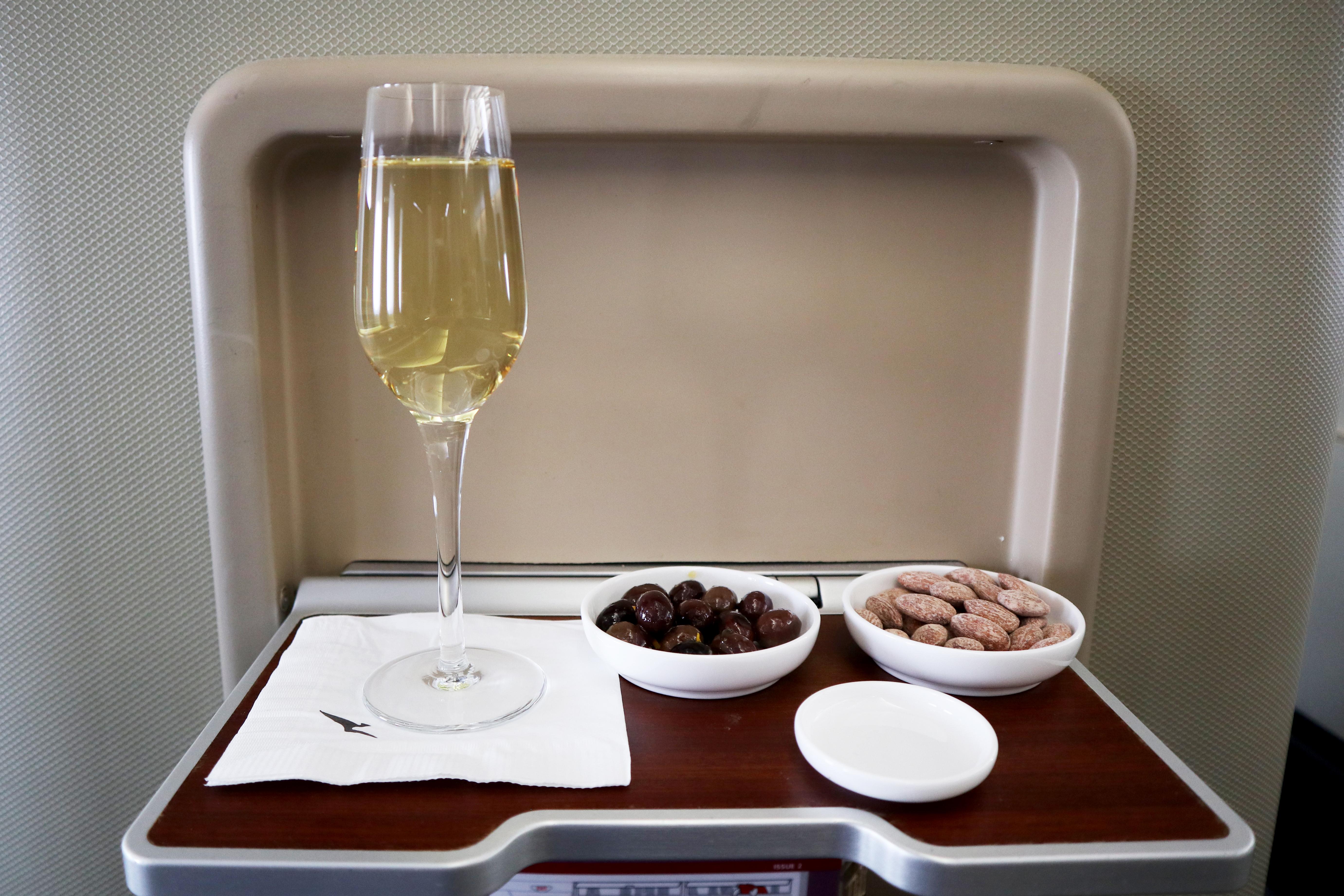 Qantas A380 Boarding Champagne