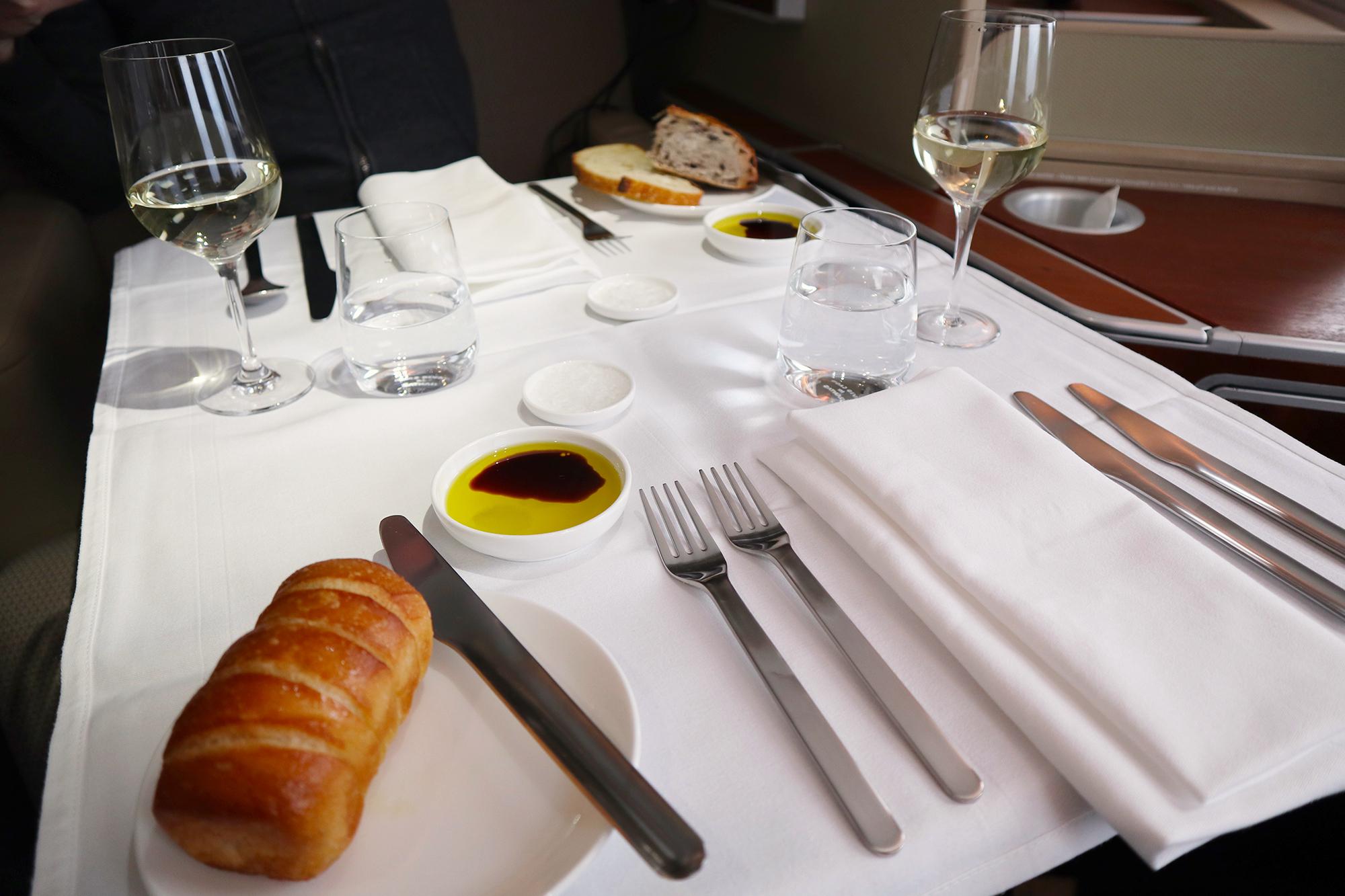 Qantas A380 First Class Table