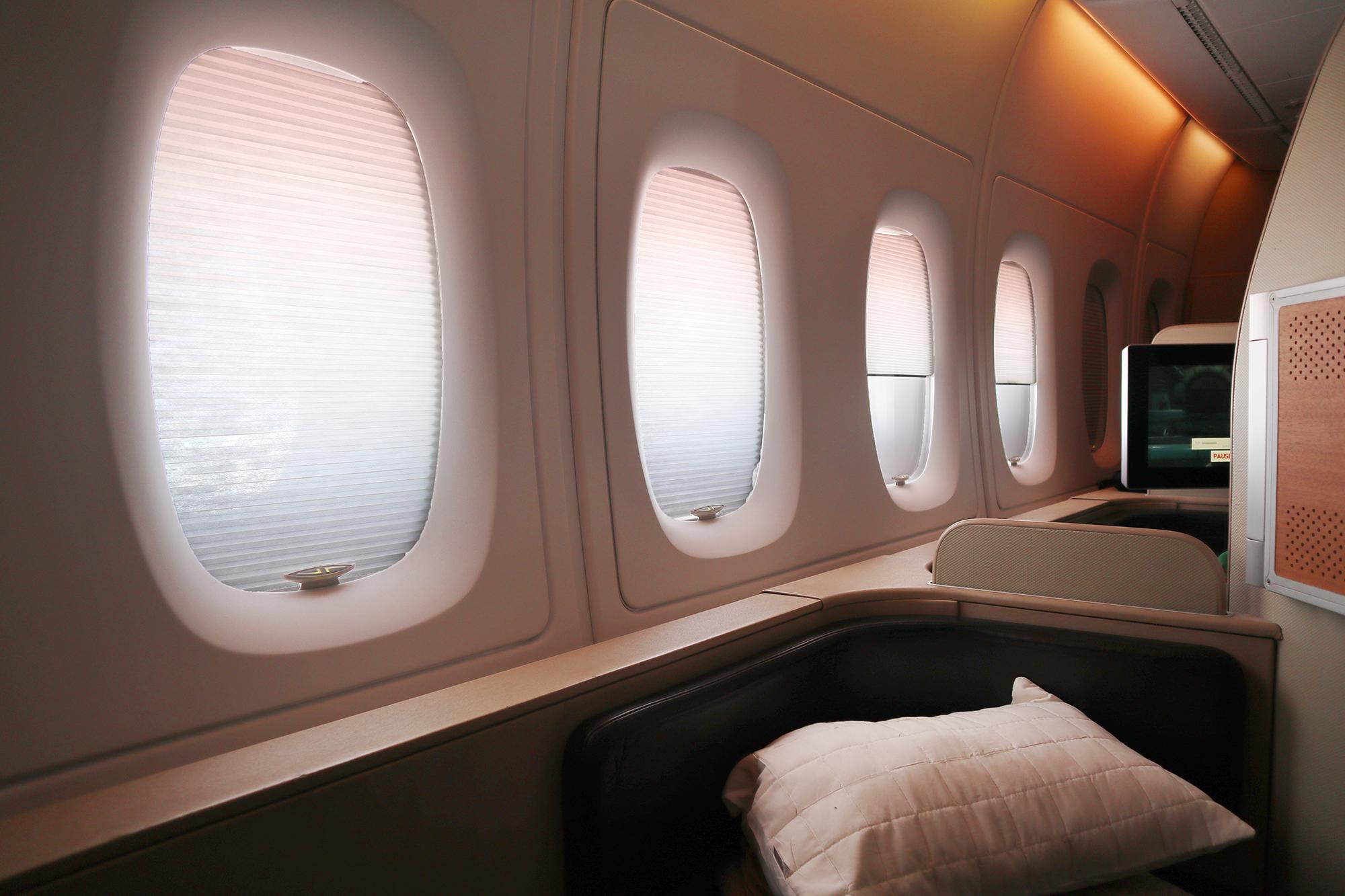 Qantas A380 First Class Windows