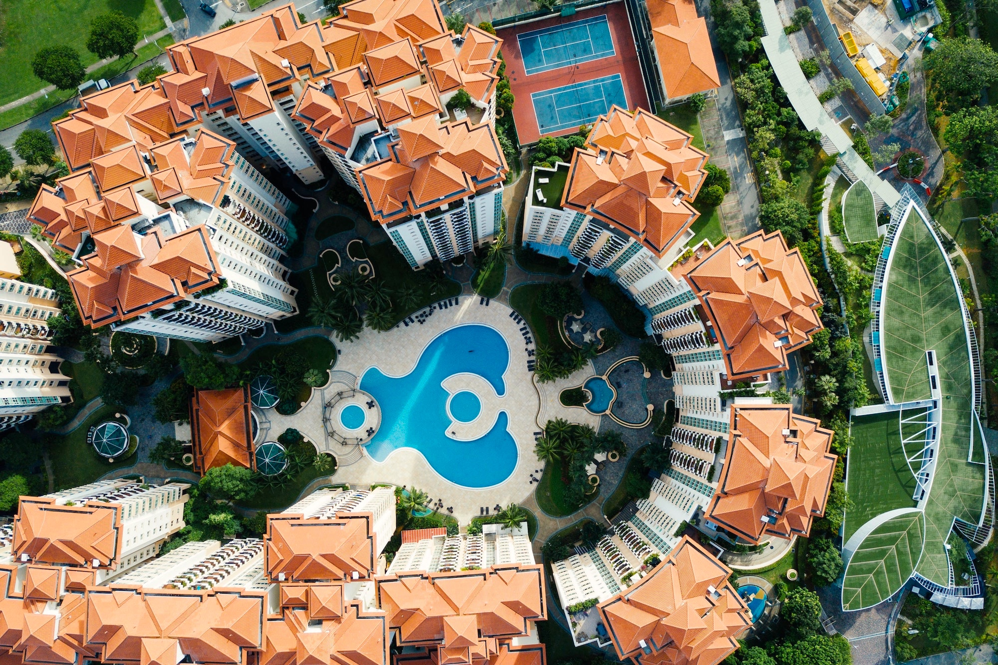 Singapore Condo from above