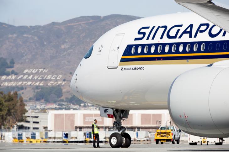 SQ A350 SFO