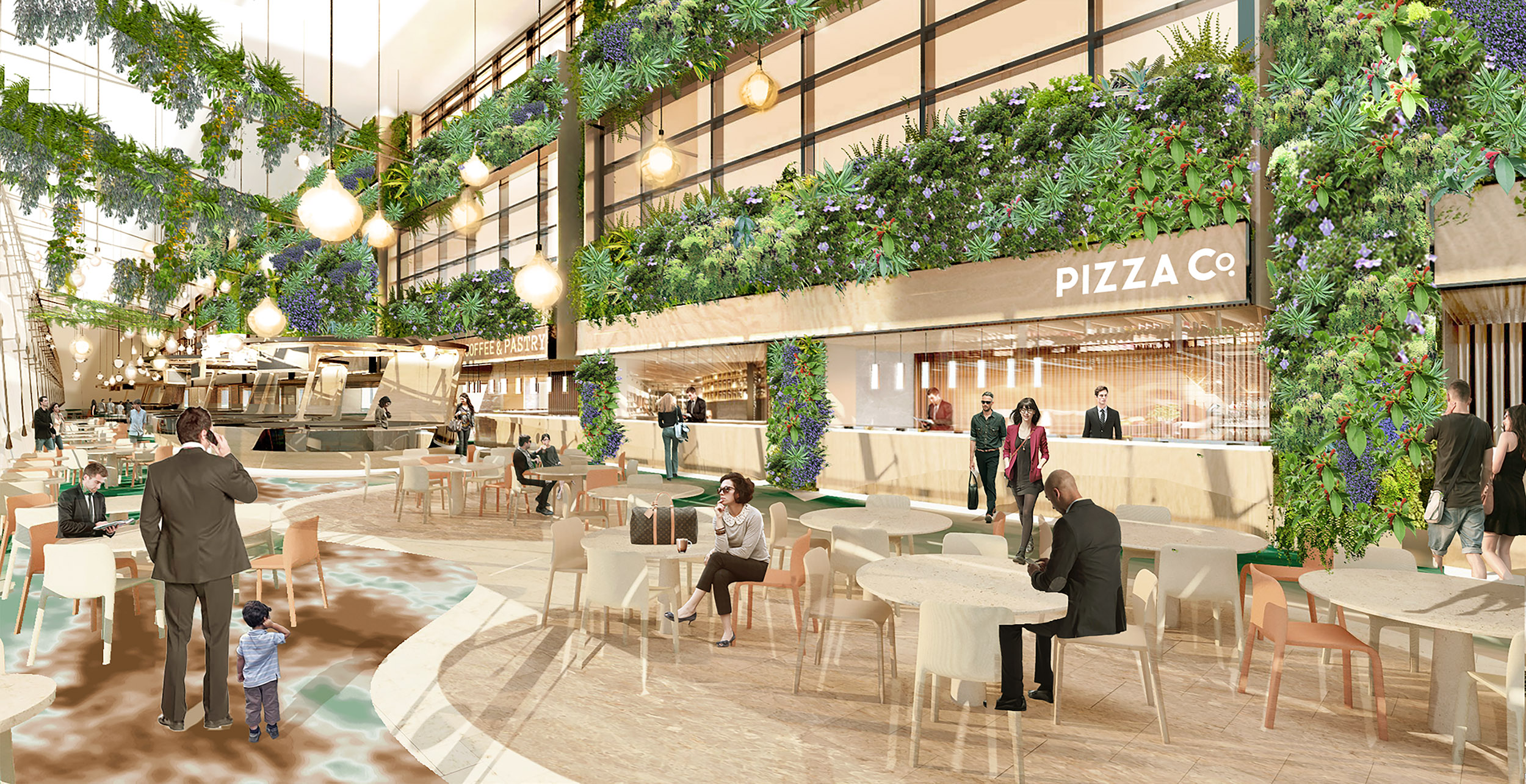 3A Departure Transit Hall - Dining in a Garden (CAG)