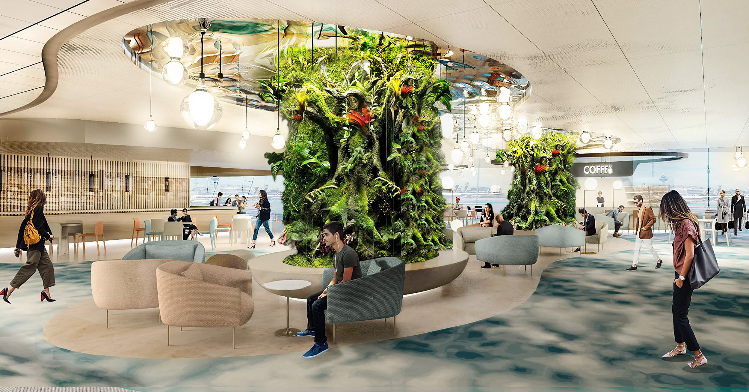 3B Departure Transit Hall - Dining in a Garden (CAG)
