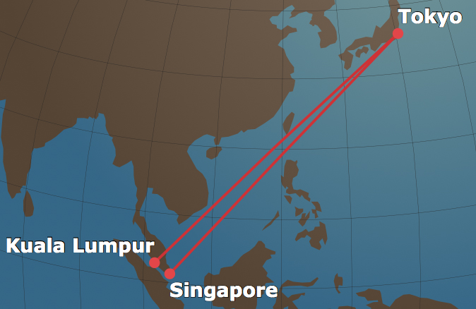 JAL Stopover Map