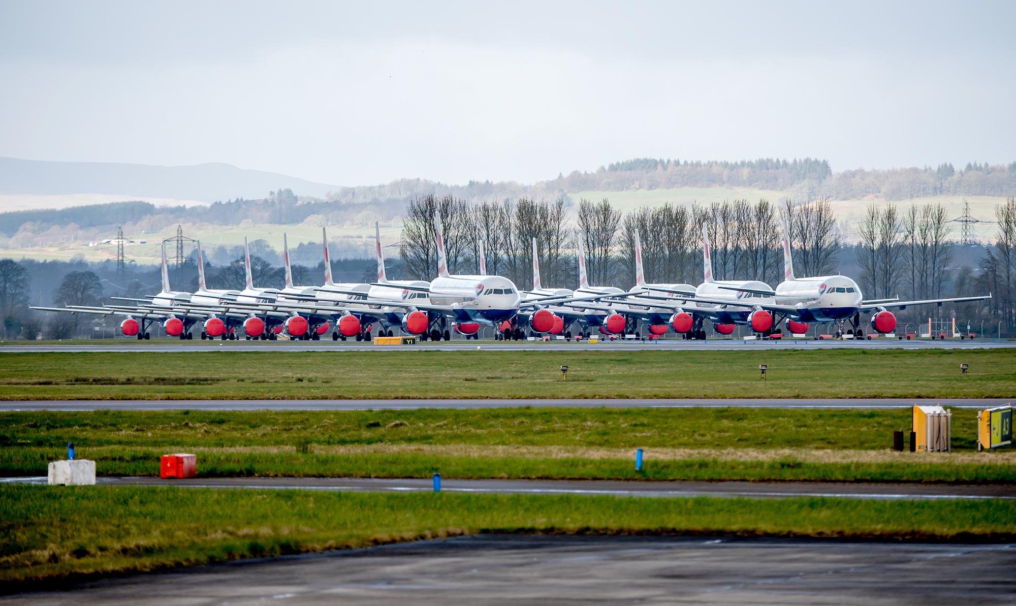BA A320s Stored GLA (SS)