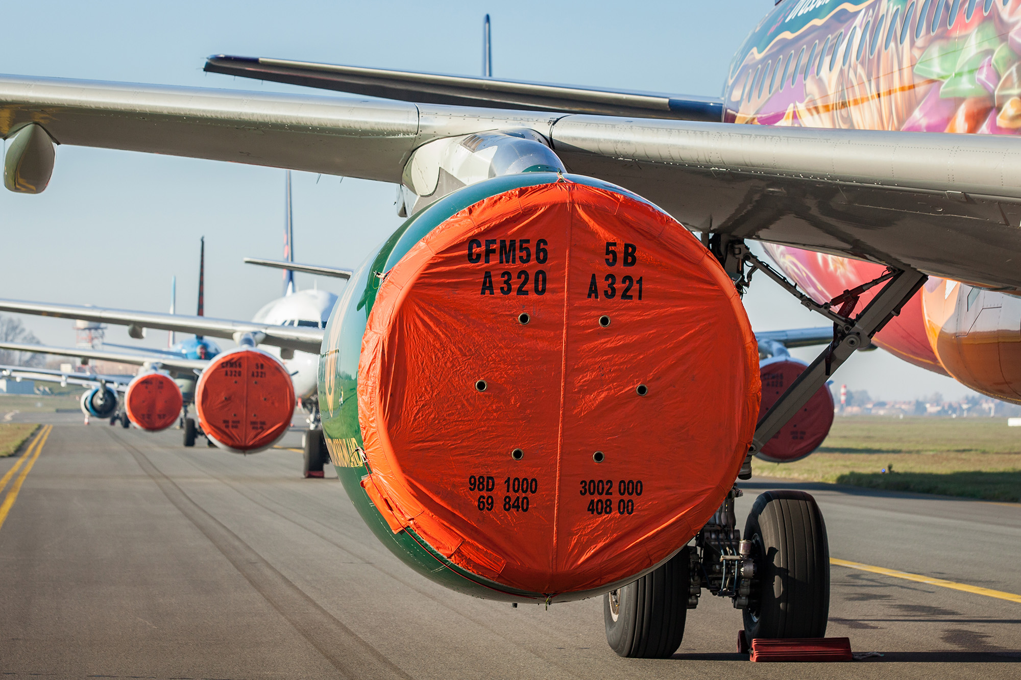 SN A320s Stored (Brussels Airlines)