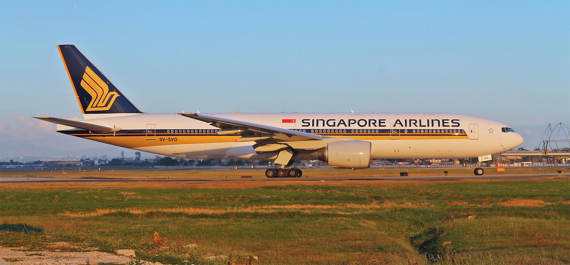 SQ 777-200 Sunset (RM Bulseco)