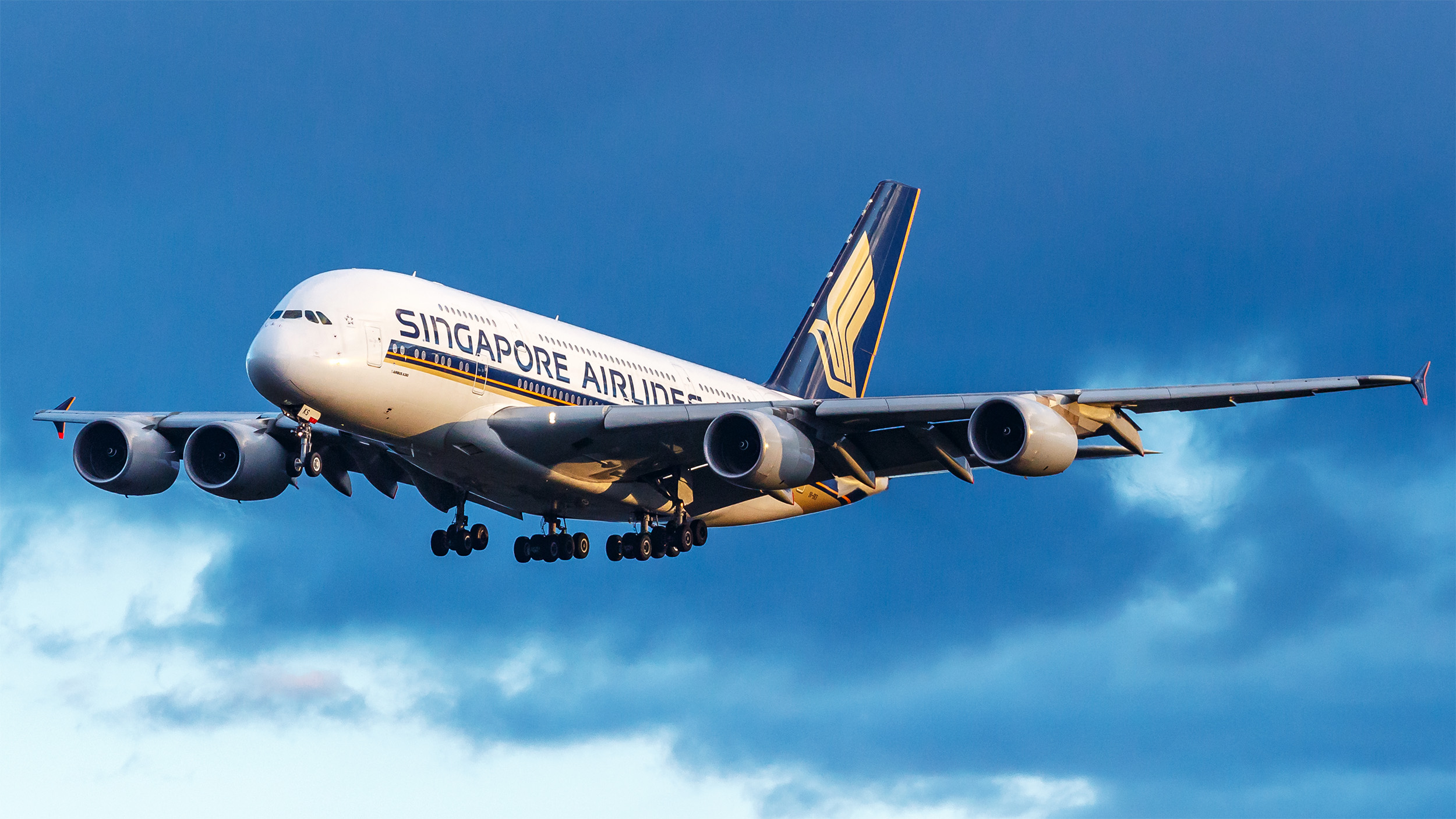 SQ A380 Landing FRA (TJDarmstadt)