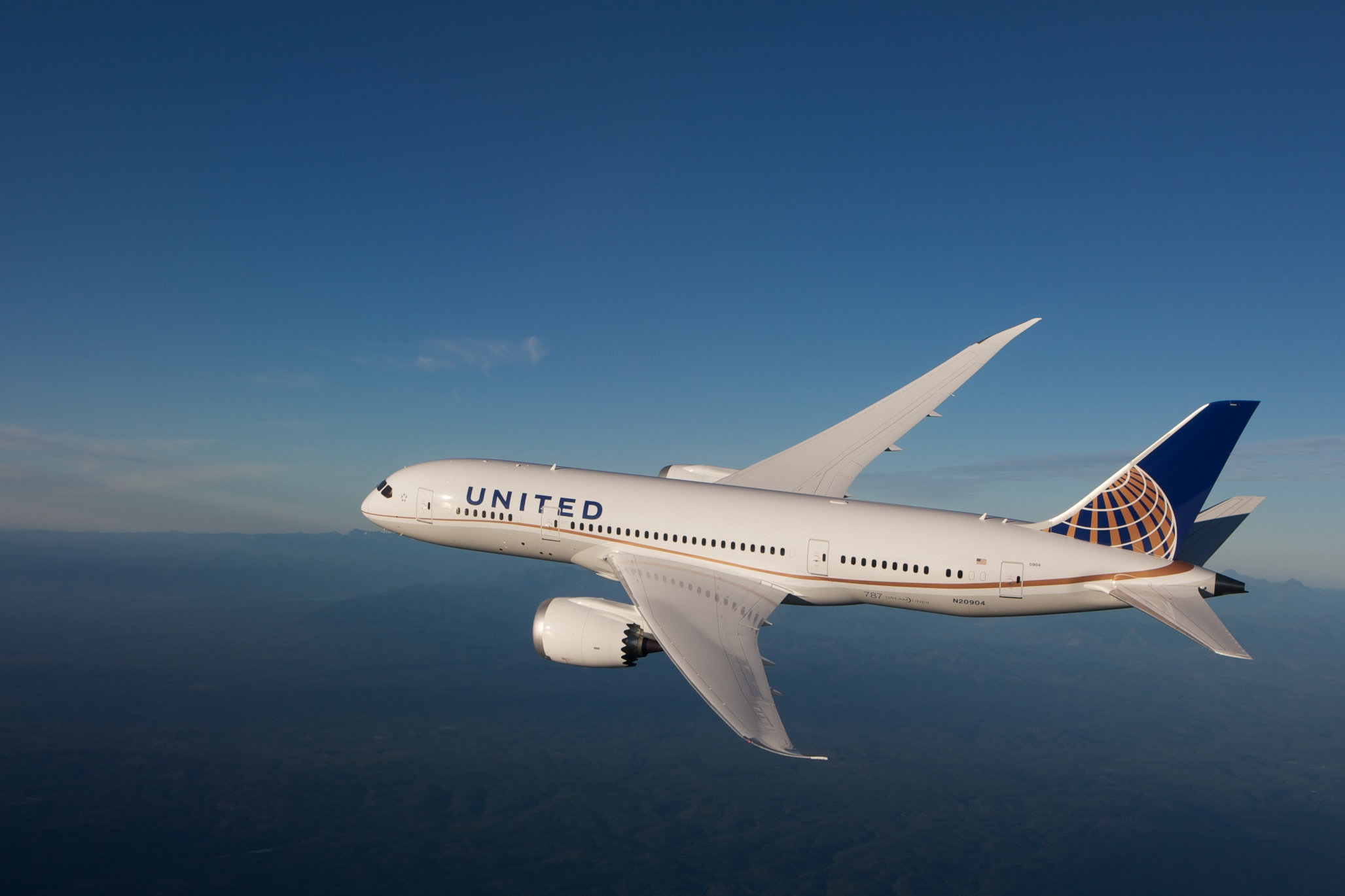 UA 787 In-Flight (United)