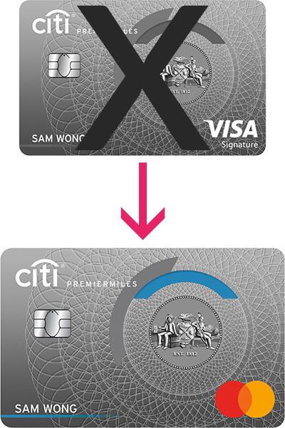 Visa to MC