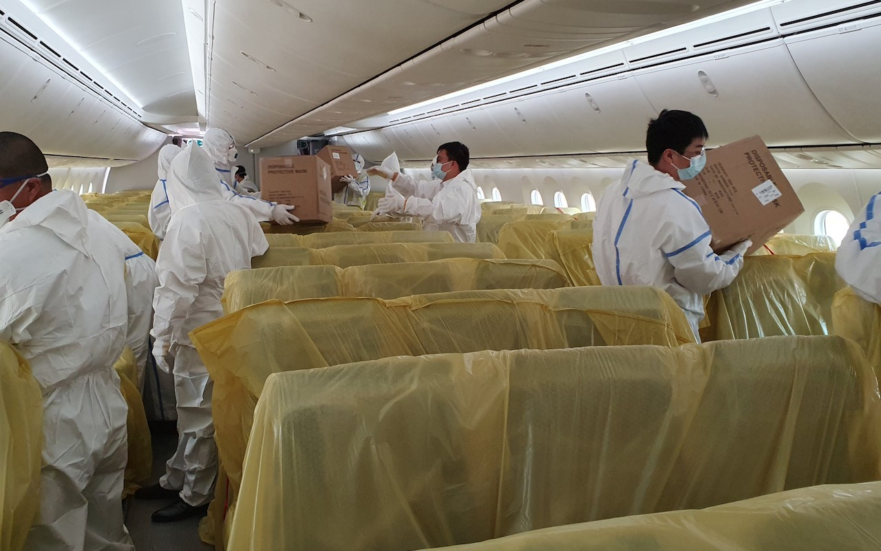 SIA Cargo in cabin 2 (Singapore Airlines)