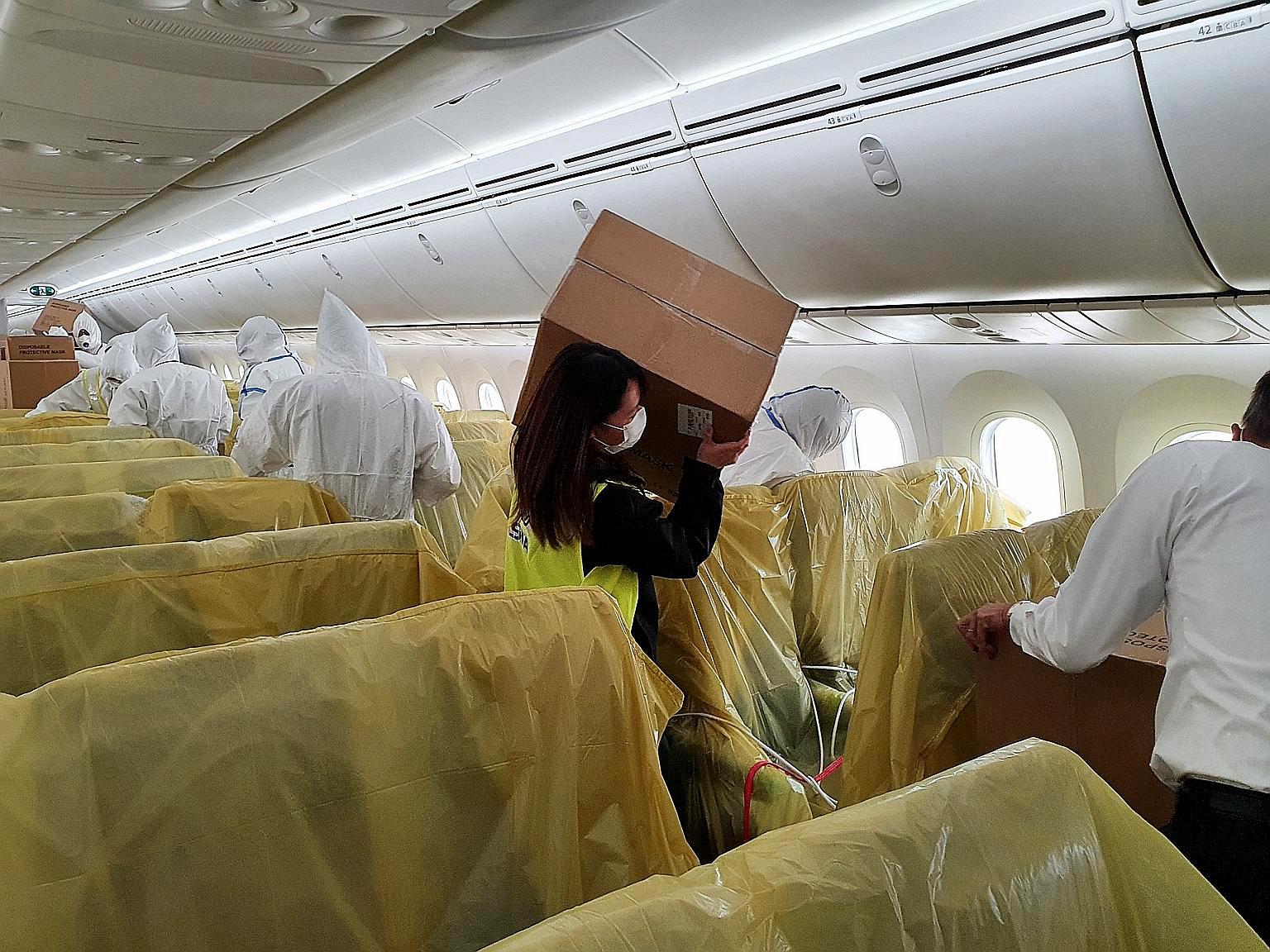 SIA Cargo in cabin (Singapore Airlines)