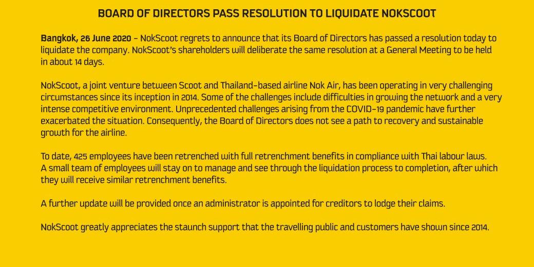 NokScoot Liquidation