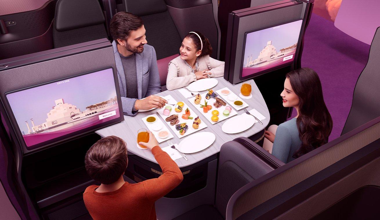 Qsuite Quad (Qatar Airways)