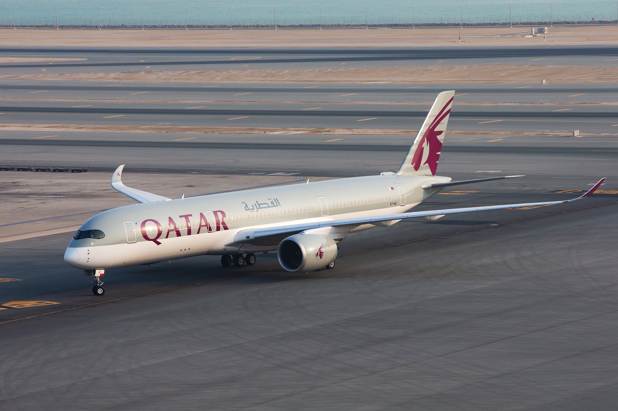 QR A350 Taxiing (Qatar Airways)