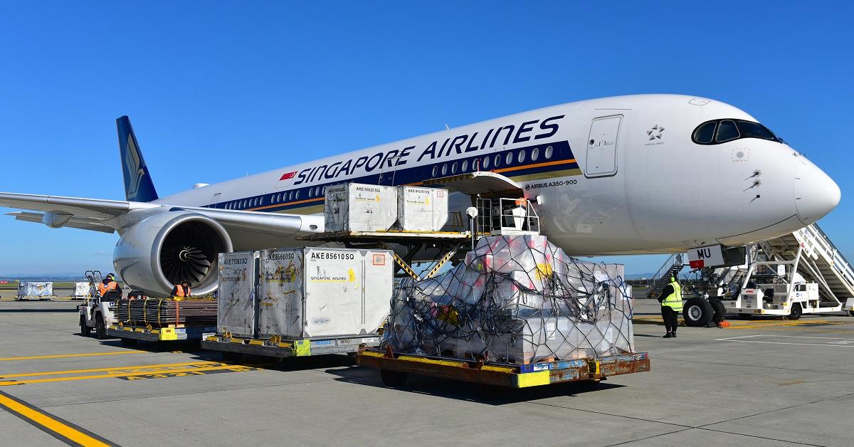 SQ A350 AKL Cargo (Jordan Tan)
