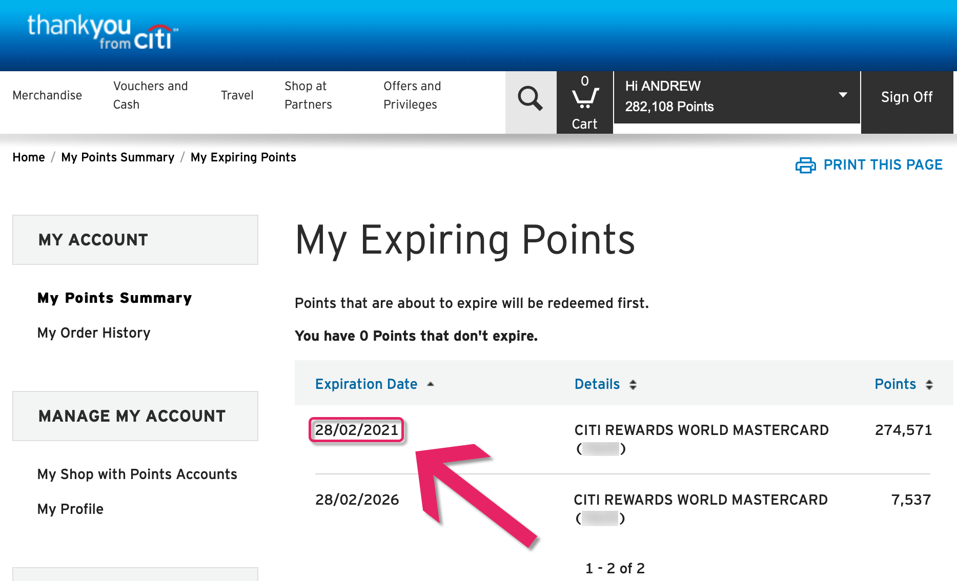 beware of the unusual citi rewards points expiry policy
