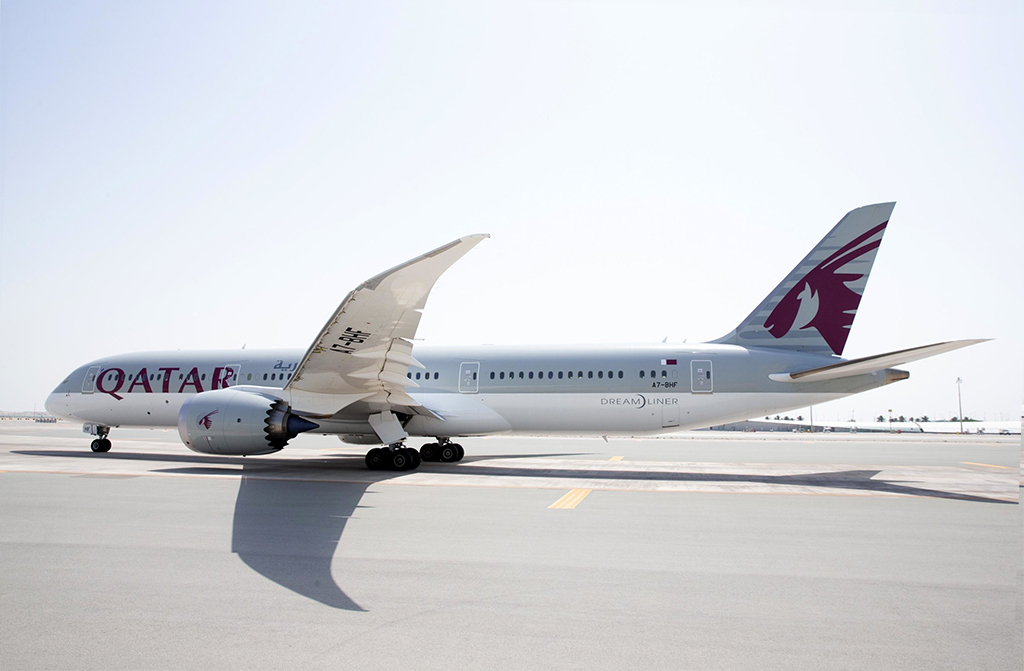 This image has an empty alt attribute; its file name is QR-789-Taxiing-Small-Qatar-Airways.jpg